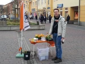Infostand in Hennigsdorf