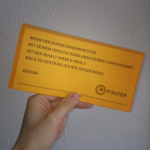 Transparenter Brief